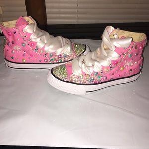 Kids  Blinged Converse Shoes on Poshmark 4aef7f702